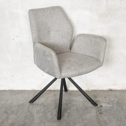 Stuhl Chris Warm Grey (Cario Fabric)
