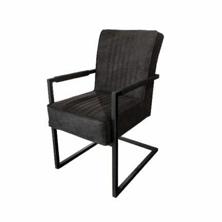 Stuhl David - mit Armlehne - Farbe anthrazit