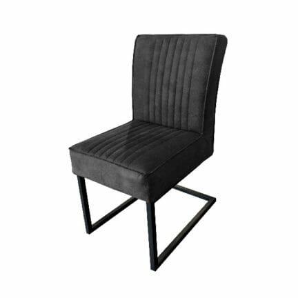Stuhl David - ohne Arme - Farbe anthrazit