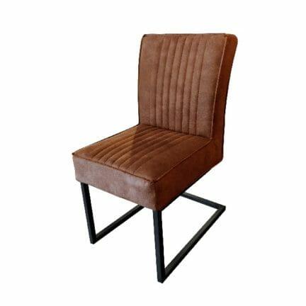 Freischwinger Stuhl David - ohne Arme- Farbe braun