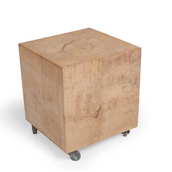 Esstischstuhl-Massivholzblock