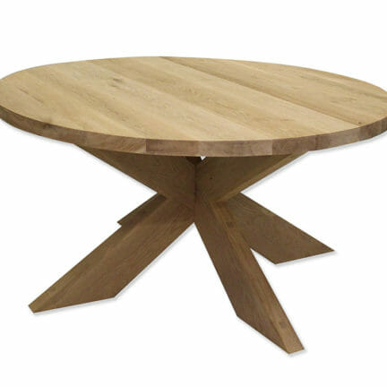 Rund Modell G Eine klassische Holztischkombination. Alle Platten können individuell geölt werden_